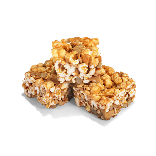 Apple & Hazelnut Mini Popcorn Bars